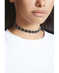 Forever 21 - Faux Suede O-ring Choker - Lyst