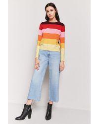 b54da0f100b4ea Forever 21 - Women's Multicolour Stripe Jumper Jumper - Lyst