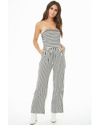 Forever 21 - Striped Tube Jumpsuit - Lyst