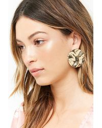 Forever 21 - Textured Disc Drop Earrings - Lyst