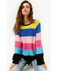 f0d1a5f917fe15 FOREVER21 - Ribbed Striped Colorblock Sweater - Lyst