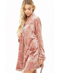 so cheap search for original sleek Crushed Velvet Robe , Pink