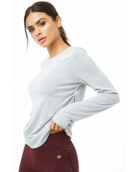 Forever 21 - Active Ruched Crew Neck Tee - Lyst