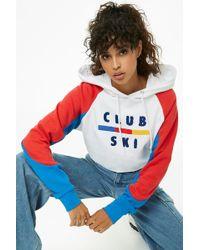 Forever 21 - Club Ski Colorblocked Hoodie - Lyst