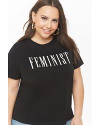 73e90661d7 Forever 21 - Women s Plus Size Feminist Graphic Tee Shirt - Lyst