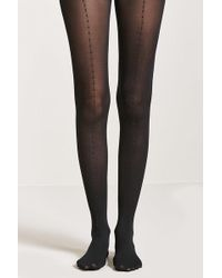 Forever 21 - Beaded Semi-sheer Tights - Lyst
