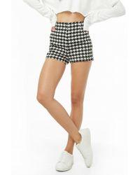 Forever 21 - Women's Houndstooth High-waist Shorts - Lyst