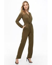 Forever 21 Tie-waist Drawstring Jumpsuit , Olive