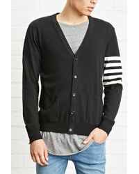 Forever 21 - 's Stripe-sleeve Cardigan Sweater - Lyst