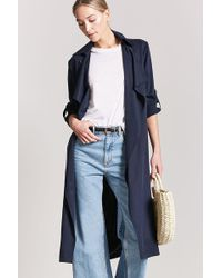Forever 21 - Draped Trench Coat - Lyst