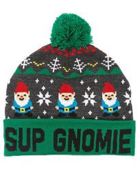 f5de5130c01 Lyst - Forever 21 Sup Gnomie Fair Isle Beanie in Red