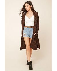 Forever 21 - Wool-blend Longline Cardigan - Lyst