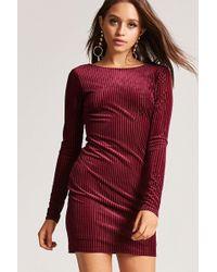 e51b6545908 Forever 21 Women s Plus Size Crushed Velvet Dress - Lyst