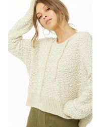 Forever 21 - Hooded Popcorn Knit Sweater - Lyst