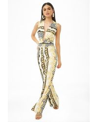Forever 21 - Baroque & Chain Print Jumpsuit - Lyst