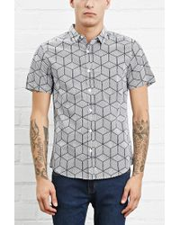 Forever 21 - Geo Print Pocket Shirt - Lyst