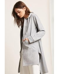 Forever 21 - High-low Longline Hoodie - Lyst