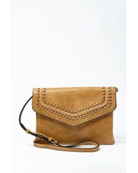 Forever 21 - Faux Leather Envelope Crossbody Bag , Tan - Lyst
