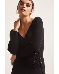Forever 21 | Lace-up Wrap Top | Lyst