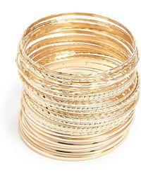 Forever 21 - Geo Bangle Bracelet Set - Lyst