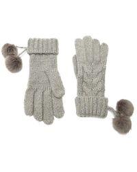 Forever 21 - Cable-knit Pom Pom Gloves - Lyst