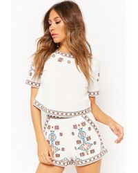 Forever 21 - Embroidered Abstract Shorts - Lyst
