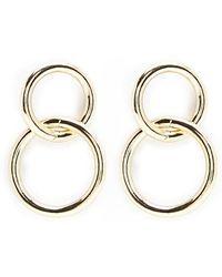 Forever 21 - Linked Hoop Drop Earrings - Lyst