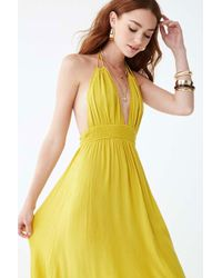 dd447b093ed428 Forever 21 - Halter Maxi Dress , Citron - Lyst
