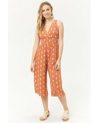 FOREVER21 - Smocked Geo Jumpsuit - Lyst