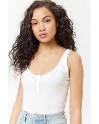 Forever 21 - Ribbed Tank Top - Lyst