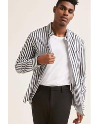 Forever 21 - Stripe Curve Hem Shirt - Lyst