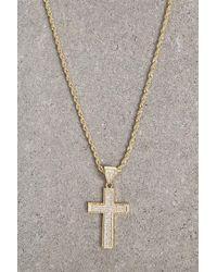 Forever 21 - Akademiks Cross Rope Chain - Lyst
