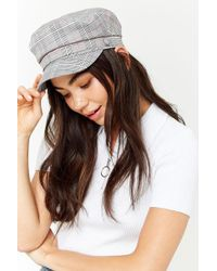 Forever 21 - Glen Check Cabby Hat - Lyst
