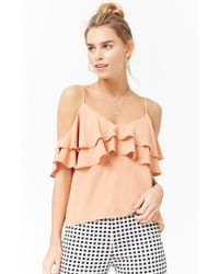 Forever 21 - Open-shoulder Ruffle Top - Lyst