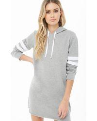 Forever 21 - Women's Varsity Hooded Sweatshirt Dress - Lyst