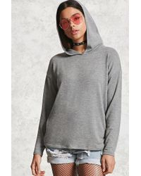Forever 21 | Heathered Knit Hooded Top | Lyst