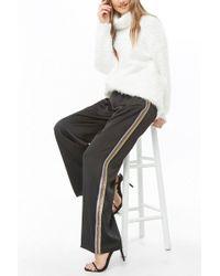 Forever 21 - Multicolor Striped-trim Satin Pants - Lyst