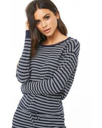 Forever 21 - Striped Ribbed Pajama Pants - Lyst