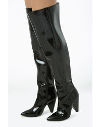 Forever 21 - Women's Faux Patent Leather Thigh-high Boots - Lyst