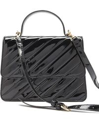 Forever 21 - Quilted Faux Patent Leather Satchel - Lyst