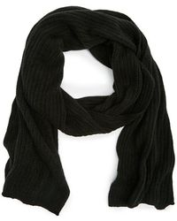 a86596ab5bd4e COS Ribbed Merino Wool Scarf in Black for Men - Lyst