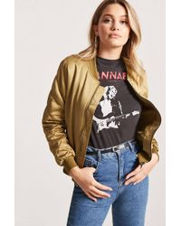 Forever 21 - Quilted Bomber Jacket - Lyst