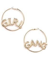 Forever 21 | Girl Gang-plated Hoop Earrings | Lyst