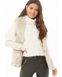 Forever 21 Faux Fur Vest , Cream