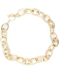 Forever 21 - Oval Chain Toggle Necklace - Lyst