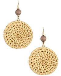 Forever 21 - Straw Circle Drop Earrings - Lyst