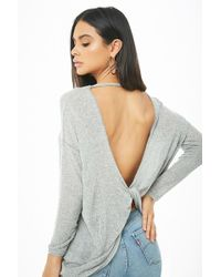 Forever 21 - Marled Twist-back Top - Lyst