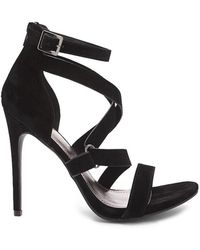 Forever 21 - Shoe Republic Faux Suede Strappy Heels - Lyst