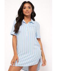 Forever 21 - Striped Pajama Shirt Nightdress - Lyst