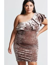 a222dbfd959 Forever 21 - Women s Plus Size Crushed Velvet Dress - Lyst